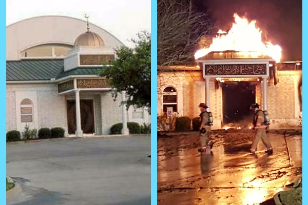 An early-morning fire Saturday destroyed a Texas mosque that was a target of hatred several years ago and experienced a burglary just a week ago. (GoFundMe/Victoria Islamic Center Rebuilding)