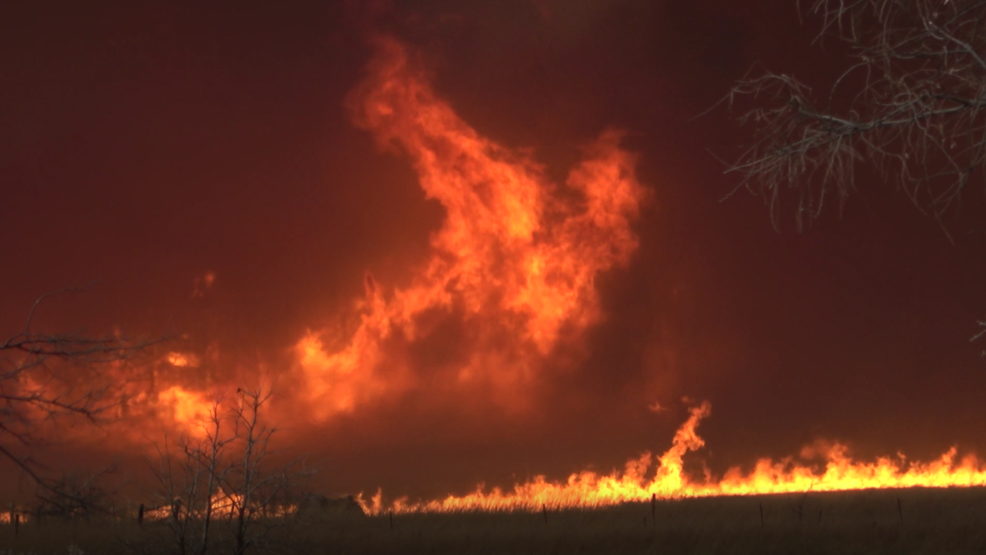 Inside the Storm: Towering flames and fire tornadoes ravaging northwest Oklahoma