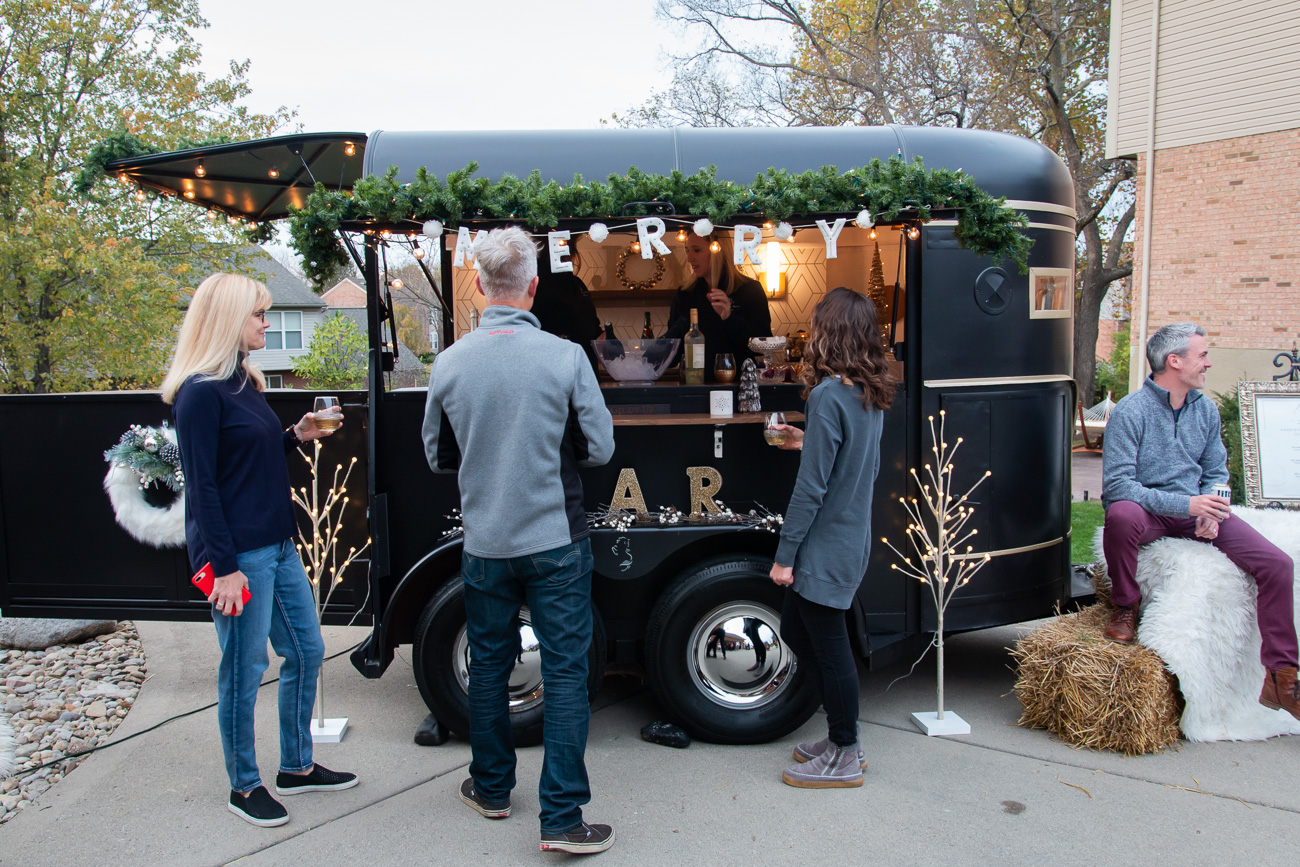"<p>As a converted horse trailer, the name ""Merry Mare"" is meant to convey a sense of warmth and memorable character.  The small size of the bar allows it to operate both inside and out depending on the space. / Image: Elizabeth A. Lowry // Published: 11.21.20 </p>"