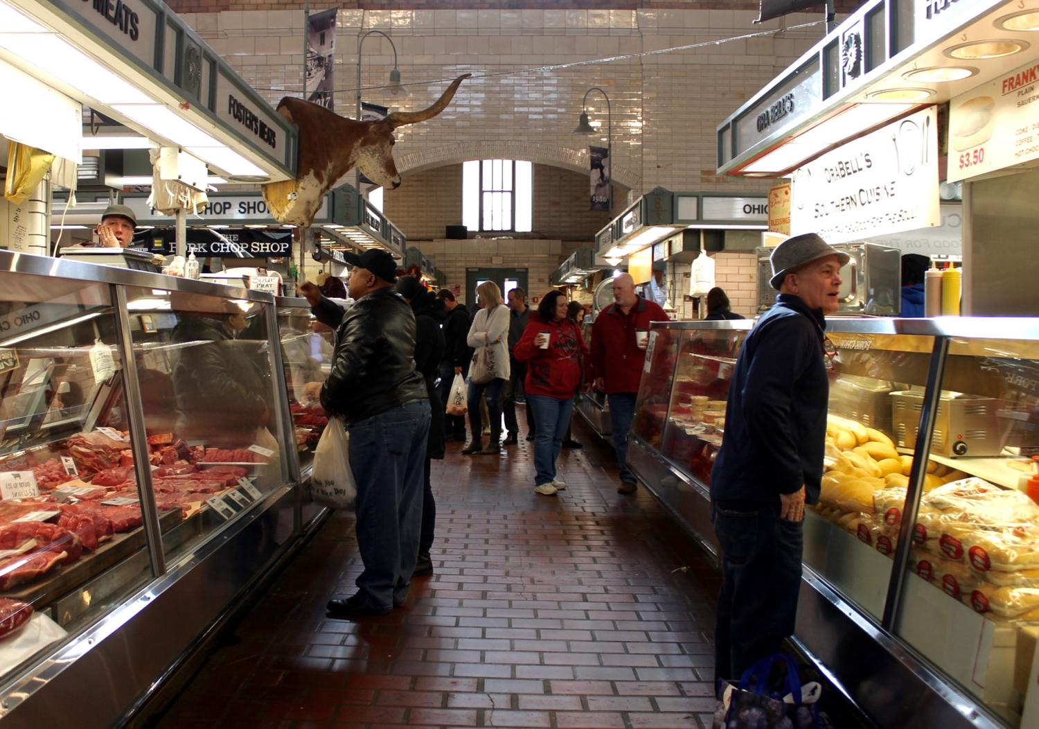"<p>Cleveland's West Side Market is the city's oldest publicly-owned market. Its origins date back to 1840 when the market began as an ""open-air marketplace""{&amp;nbsp;}on land donated by two Ohio City landowners, Josiah Barber and Richard Lord. The market opened to the public in 1912 and is now home to over 100 different vendors selling a diverse selection of cuisine, including fresh meat, seafood, vegetables, cheese and ready-to-eat foods. ADDRESS:{&amp;nbsp;}1979 West 25th{&amp;nbsp;}Street, Cleveland, OH 44113 / Image: Rose Brewington // Published: 11.22.17</p>"