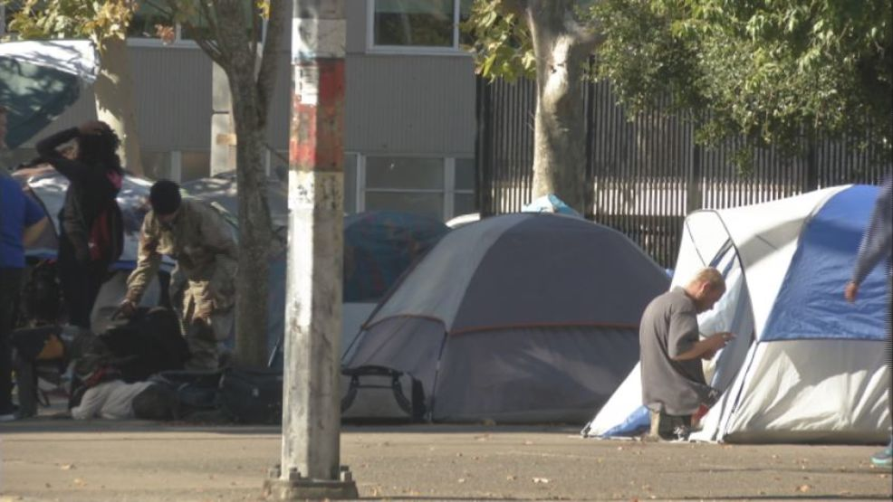 Protests continue in downtown Eugene over homeless