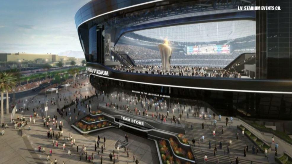 raiders stadium biggest door in city and grass that moves ksnv