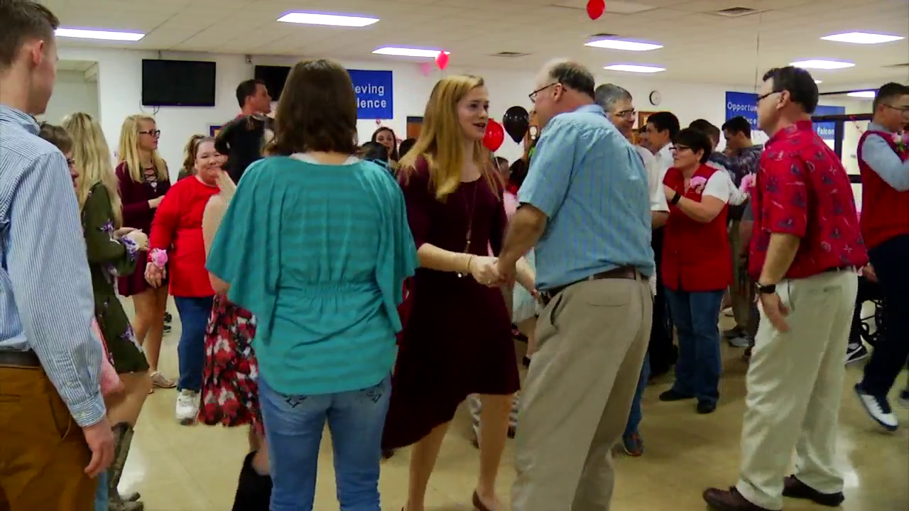 Senior citizens and people with special needs got to enjoy treats--and one another's company out on the dance floor. (Photo credit: WLOS staff)