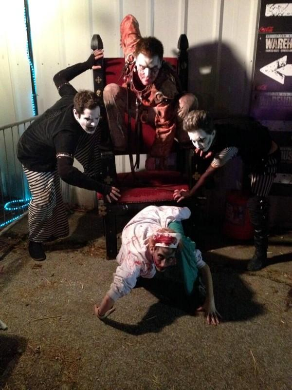 Some of the crew at Warehouse 31 haunted attraction in Pelham.
