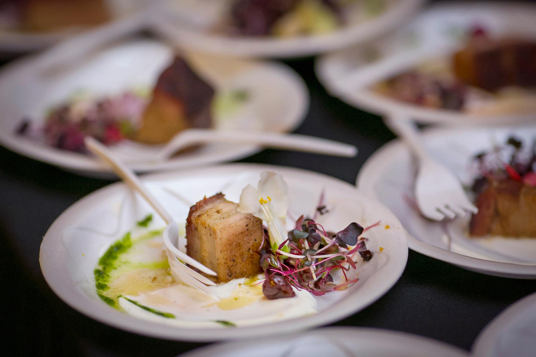 The 12th annual Art of Food took place at The Carnegie in Covington on Friday, Feb. 9, 2018. The event included bite-sized dishes from over 20 chefs and restaurants, visual displays of food-centric art, and entertainment from local artists. / Image: Mike Bresnen Photography / Published: 2.10.18