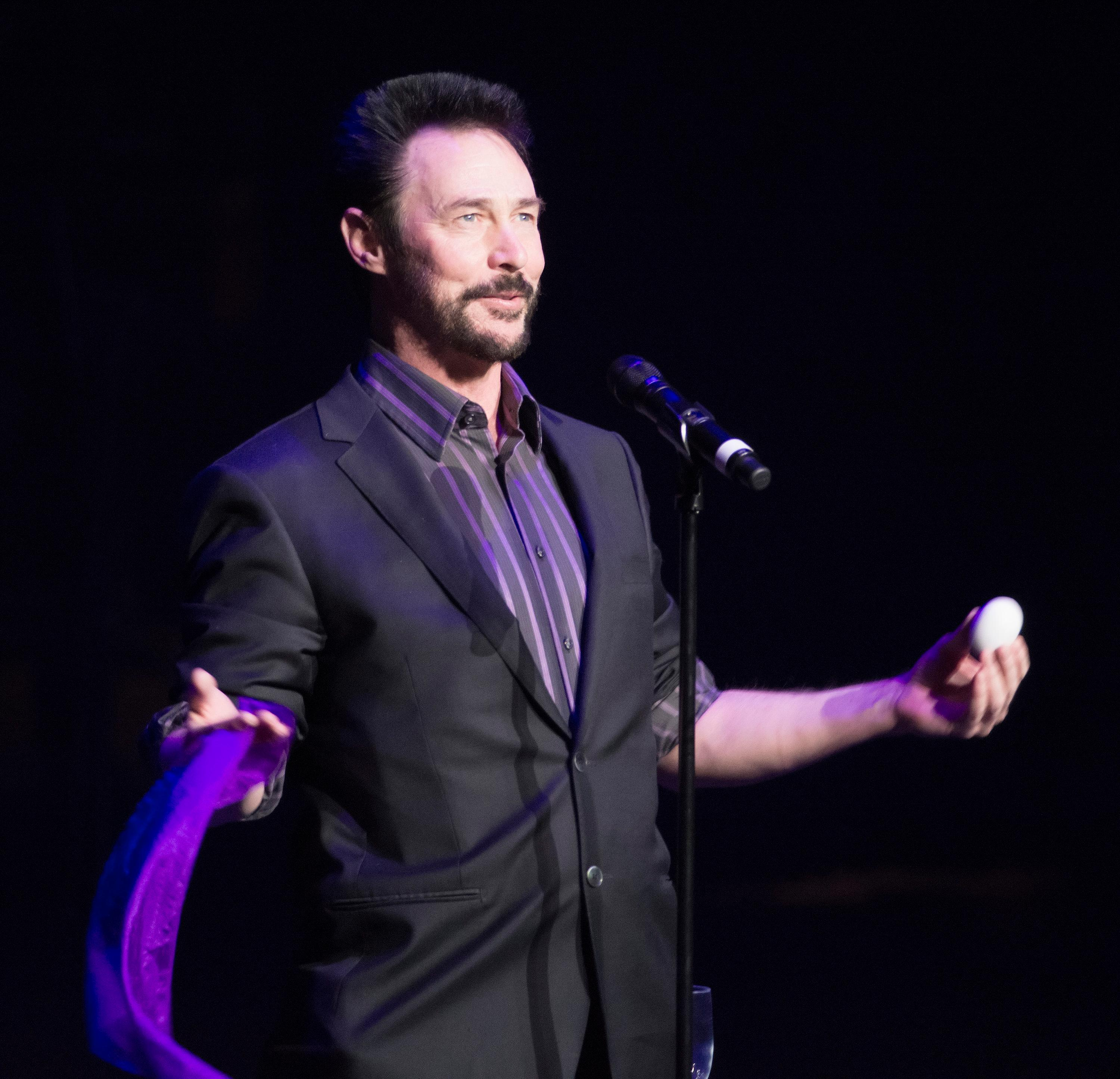 "Lance Burton performs during the ""Vegas Cares"" benefit concert at the Venetian Theatre in the Venetian hotel-casino at 3355 S. Las Vegas Blvd in Las Vegas on Sunday, Nov 5, 2017. The concert was sponsored by a group of Las Vegas entertainers, producers and business professionals to honor the victims and first responders from the 1 October shooting tragedy. CREDIT: Bill Hughes/Las Vegas News Bureau"