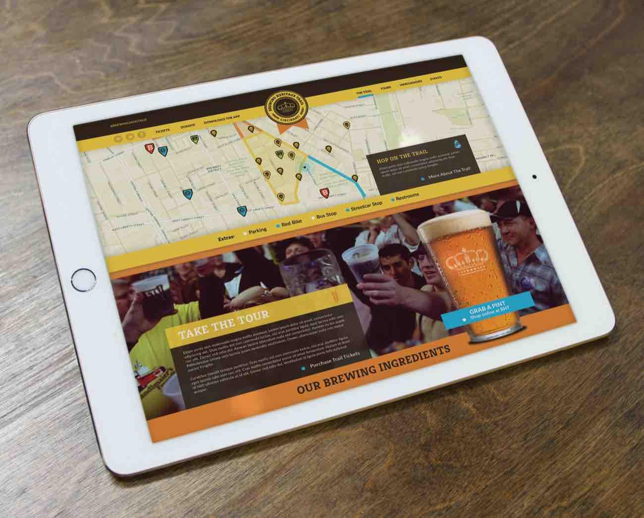 <p>WHBV is working bring the Brewing District/Brewing Heritage Trail to life with a brand identity, a website, and an app. / Image courtesy of We Have Become Vikings // Published: 7.18.18</p>