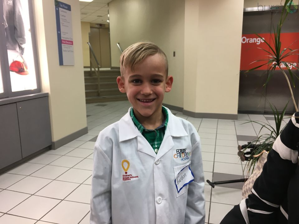 Thursday morning Hurley Medical Center held a ribbon cutting with one of their former patients, Easton, who also had the chance to tour a room named after him.{ }(Photo: WEYI/WSMH)
