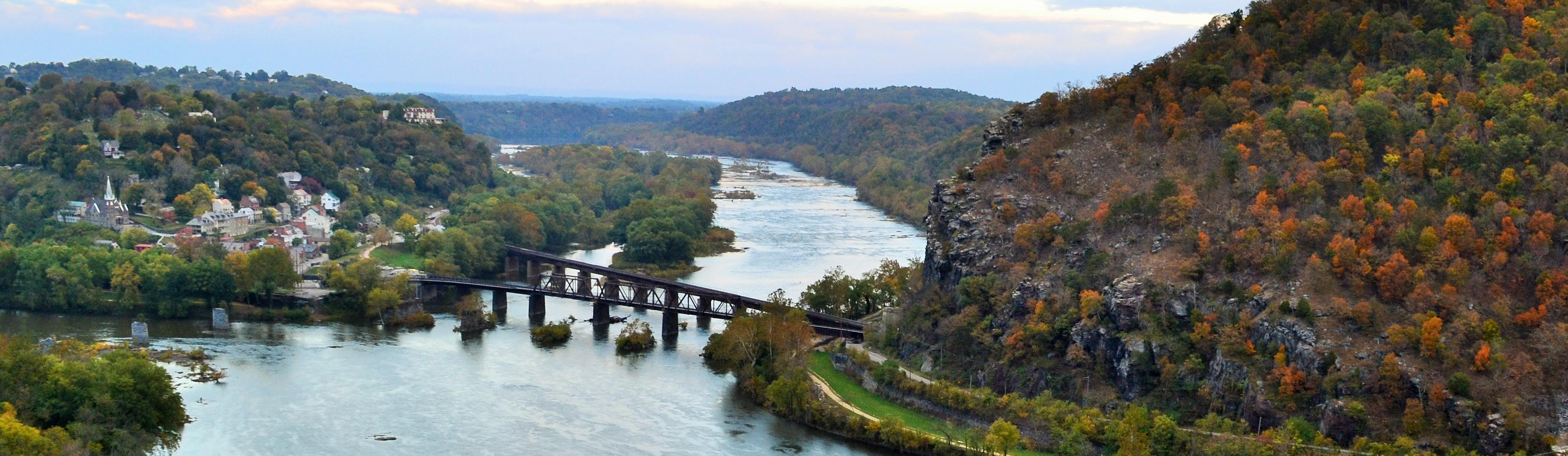 Harpers Ferry, West Virginia is just a 2.5 hour round-trip train ride away and with immediate access to the Appalachian Trail. (Image: Courtesy National Park Service)
