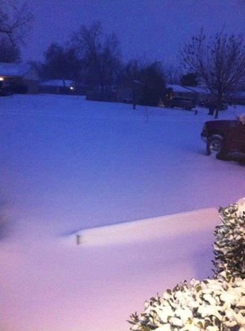 This is at 645am. More has fallen. Measuring at 4 inches where I'm at!