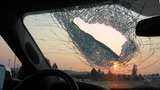 'Lucky' driver ducks in nick of time as I-5 road debris crashes into windshield