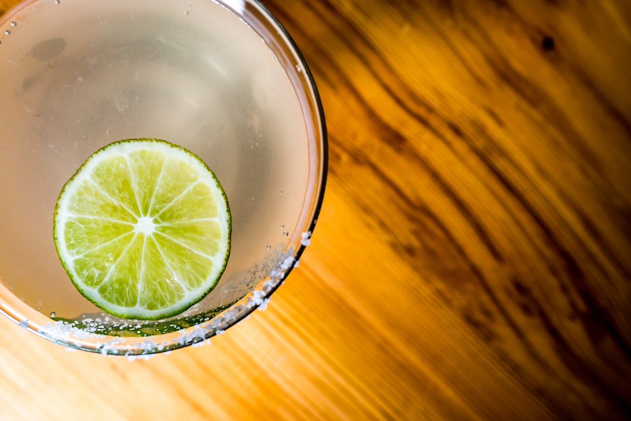 Mata Ashita (See You Tomorrow): Tequila, curacao, umeshu, and lemon juice with a salted rim and lime wheel garnish / Image: Amy Elisabeth Spasoff // Published: 9.26.18
