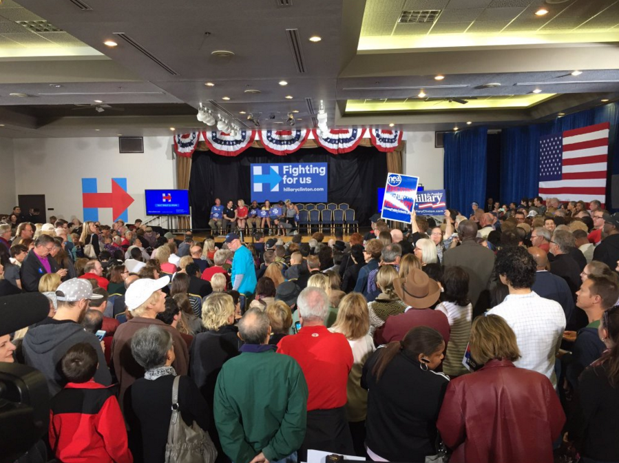 Hillary Clinton rallies supporters ahead of busy week in Nevada. (KSNV/Nathan O'Neal)