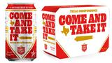 Lone Star celebrating Texas Independence Day with 'Come And Take It' cans