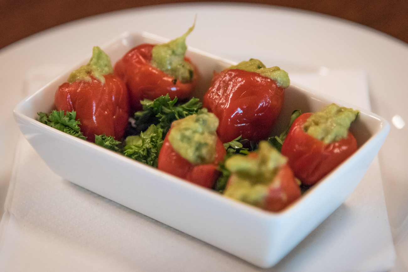 Guacamole stuffed peppadews / Image: Phil Armstrong, Cincinnati Refined // Published: 6.6.17