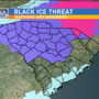 UPDATE: Threat shifts to black ice, wind chill overnight