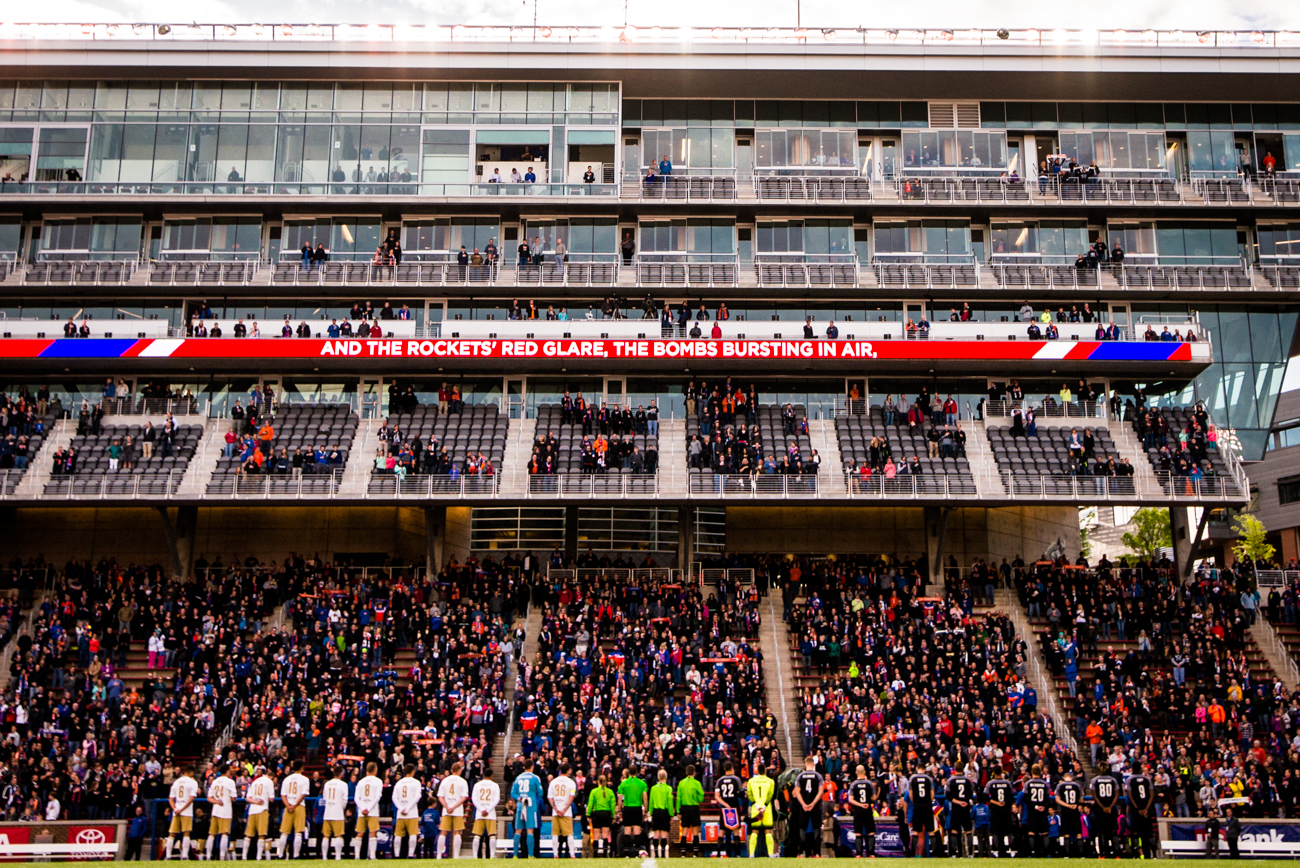 The FC Cincinnati vs. Lou City game on Saturday, April 22 at University of Cincinnati's Nippert Stadium ended in a 1-1 draw. / Image: Michael Millay of Cincy Rooted // Published: 4.23.17