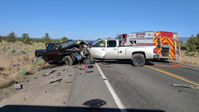 Officer, two drivers injured in chain reaction crash in Redmond