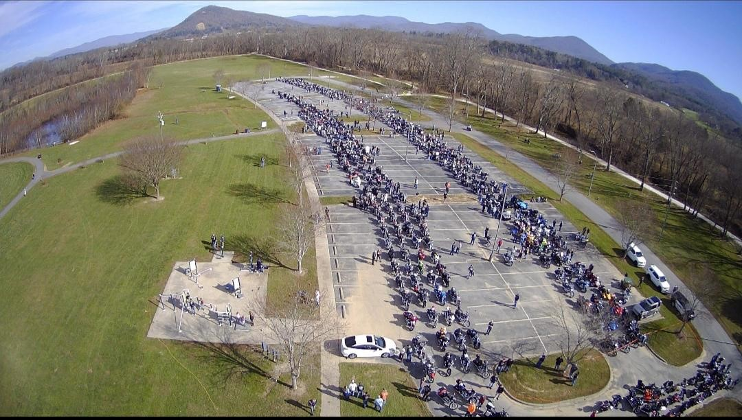 More than 450 bikers and drivers of vehicles took part in the annual Henderson County Toy Run Saturday, Nov. 21. All toys and monetary donations go directly to children in the county's foster care system. (Photo courtesy of Henderson County Toy Run)<p></p>