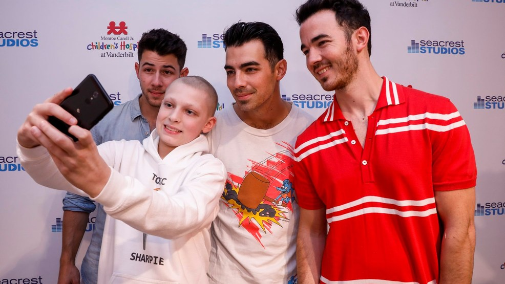 The Jonas Brothers visit patients at Vanderbilt's children's hospital
