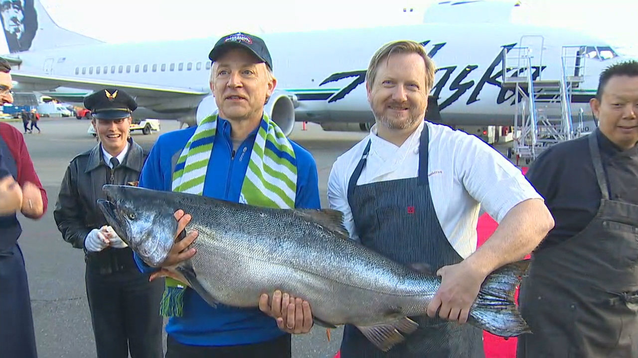 The first Cooper River Salmon is here! (Photo: KOMO News)