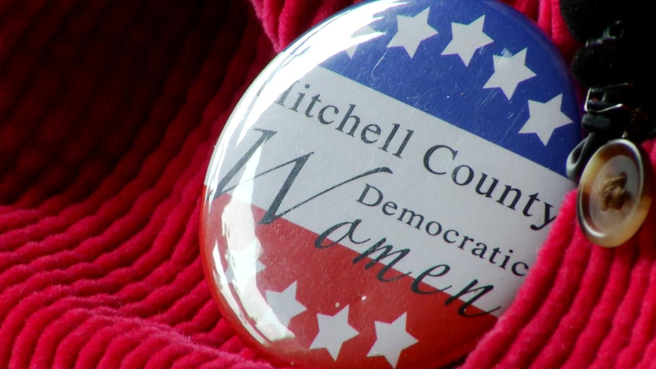 Mary Sue Wilson is a part of the Mitchell County Democratic Women organization. (Photo credit: WLOS staff)