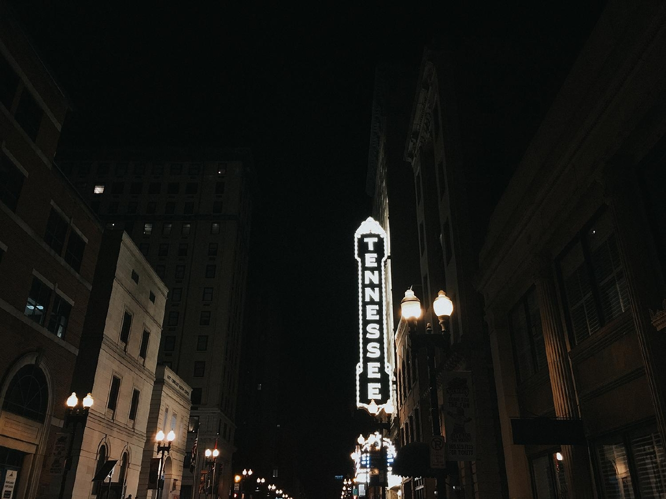 "PICTURED: The Historic Tennessee Theater / ABOUT: Knoxville is nicknamed ""the Queen City of the Mountains."" At only a three and a half hour drive down I-75, take a day trip down and check out everything the city has to offer. Then, head southeast and enjoy the American wilderness that lies just beyond it. / Image: Brianna Long // Published: 2.5.17"