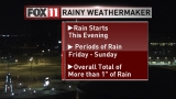 Storm Watch: Rain moves in overnight