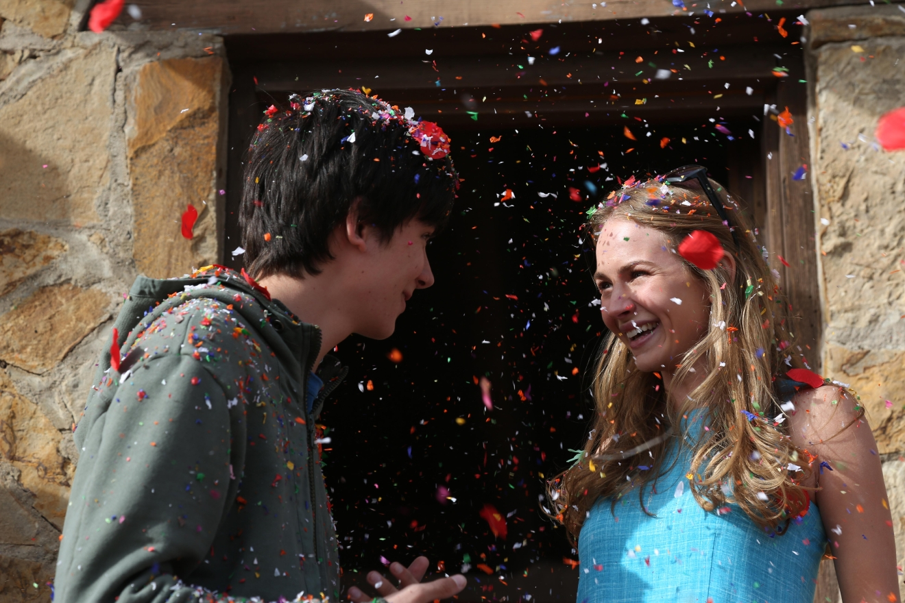"Asa Butterfield and Britt Robertson in ""The Space Between Us""  Photo: Peter Chelsom"