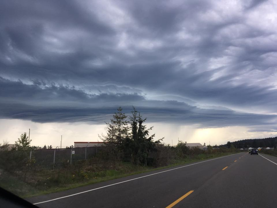 Storms hit Joint Base Lewis-McChord. (Photo courtesy of Jennifer K. Adams)