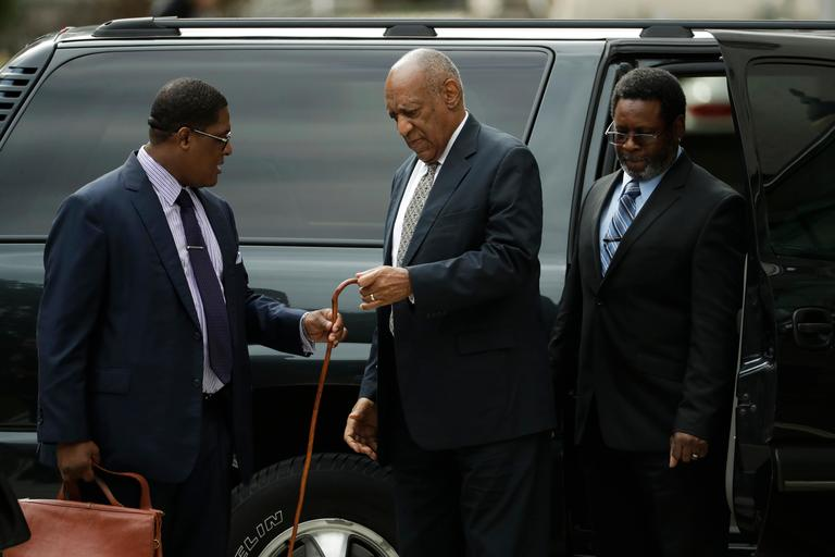 Bill Cosby arrives for his sexual assault trial at the Montgomery County Courthouse, Thursday, June 15, 2017, in Norristown, Pa. (AP Photo/Matt Slocum)