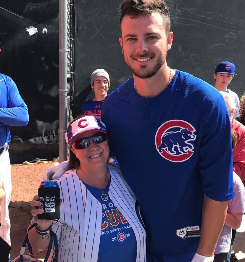 Kris Bryant meets with fans Saturday, March 25, 2017, during Big League Weekend between the Chicago Cubs and Cincinnati Reds at Cashman Field in Las Vegas. (Tony Garcia/KSNV)