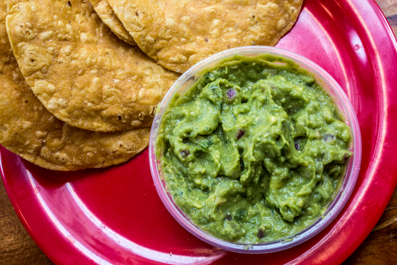 Tostada chips and guacamole /{ }Image: Catherine Viox{ }// Published: 8.31.19