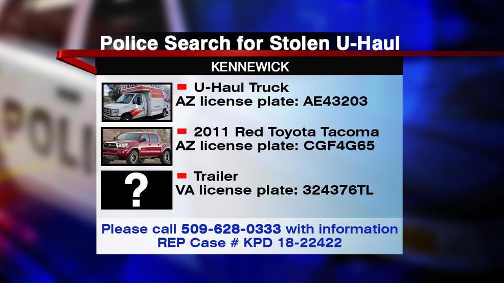 KPD: Family's U-haul and pet stolen from hotel parking lot overnight
