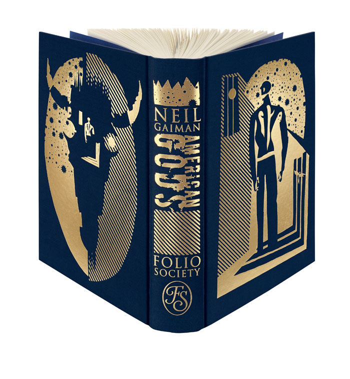"Cover designed by Dave McKean for The First Folio Edition of  Neil Gaiman's ""American Gods"" (Photo: The Folio Society)"