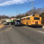 Officials: School bus with 4 students on board involved in 3-vehicle crash in Virginia