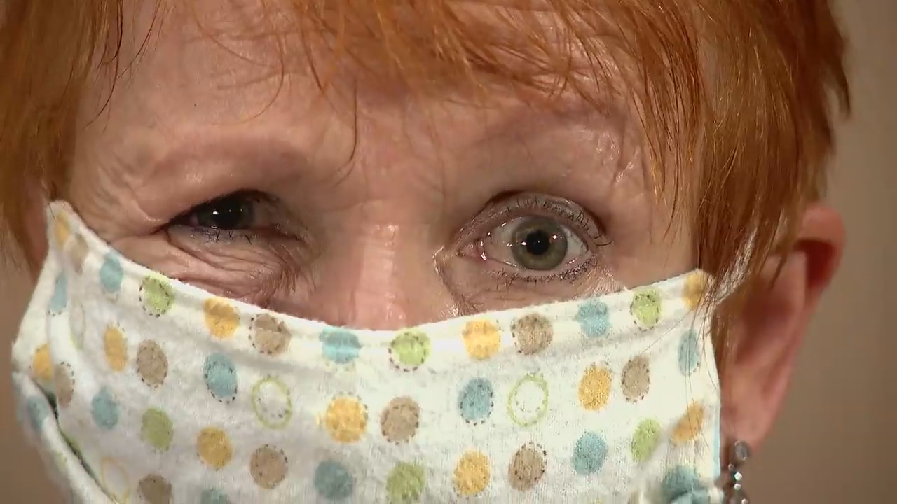 Lavinia Plonka of Asheville Movement Center shows the many different expressions conveyed just from the eyes. (Photo credit: WLOS Staff)