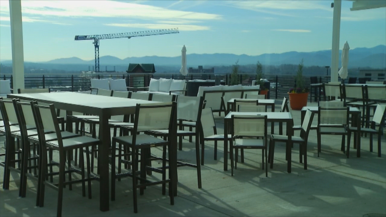 The Cambria Downtown Asheville started taking guests over the weekend. (Photo credit: WLOS staff)