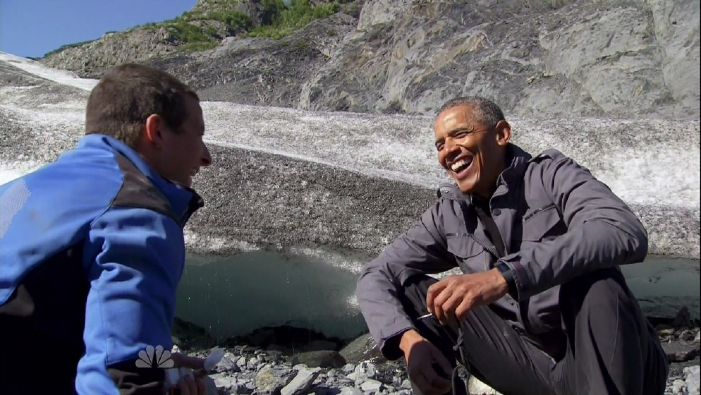 Bear Grylls left terrified by Oval Office visit