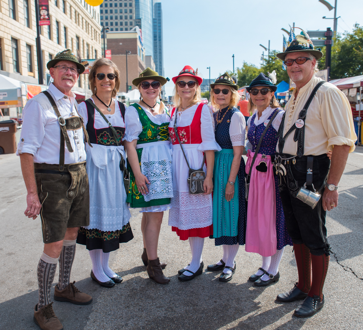 People: Lonnie and Janet Jamison, Camile Baker, Cheryl Baker, Susan Smith, and Nancy and David Grosshans / Event: Oktoberfest Zinzinnati / Image: Sherry Lachelle Photography / Published: 10.1.17