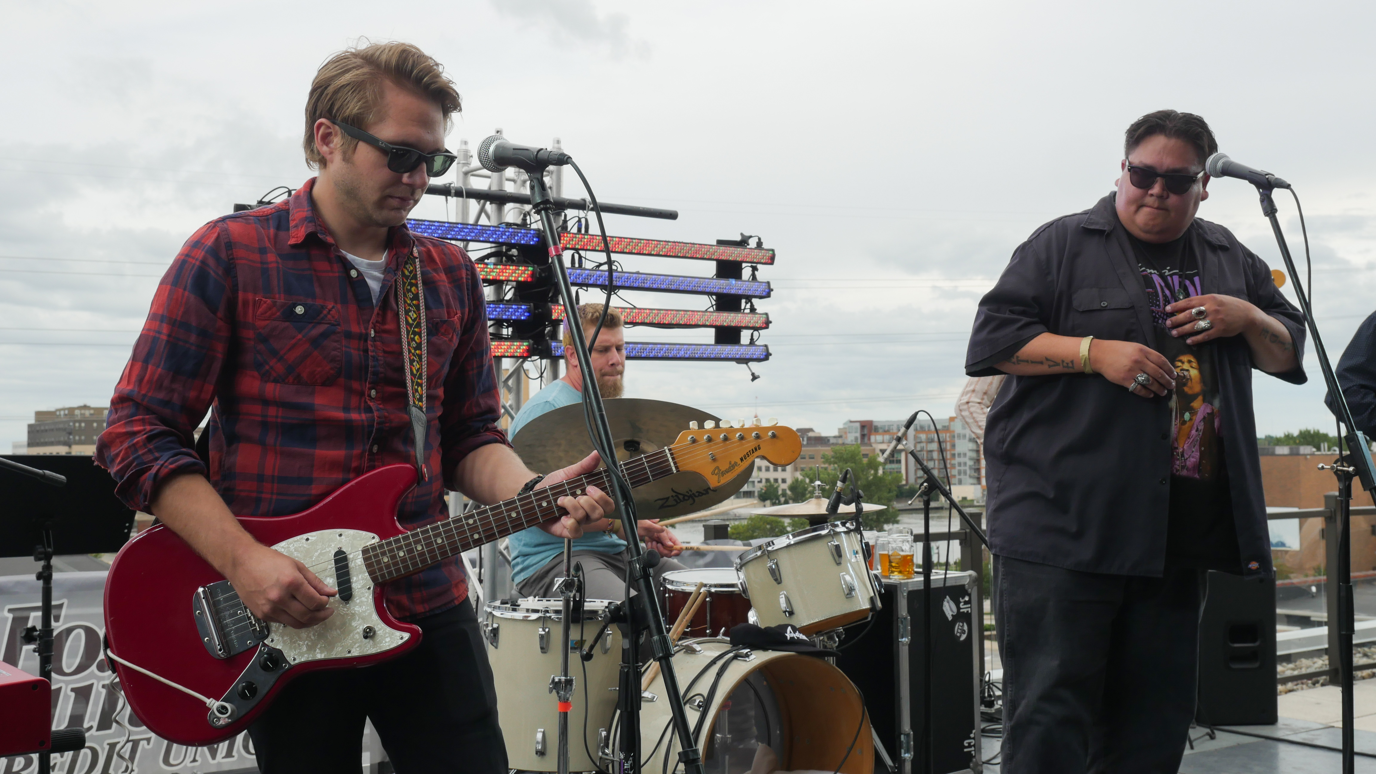 Appleton's J-Council performing Hopeland Festival 2019 at Titletown Brewing Co.'s Rooftap in the Railyard District of downtown Green Bay, Saturday, September 7th, 2019 (WCWF/ Beni Petersen)<br>