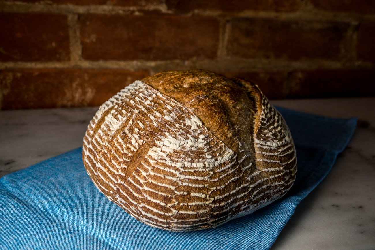 Whole wheat sourdough loaf / Image: Catherine Viox{ }// Published: 7.14.20