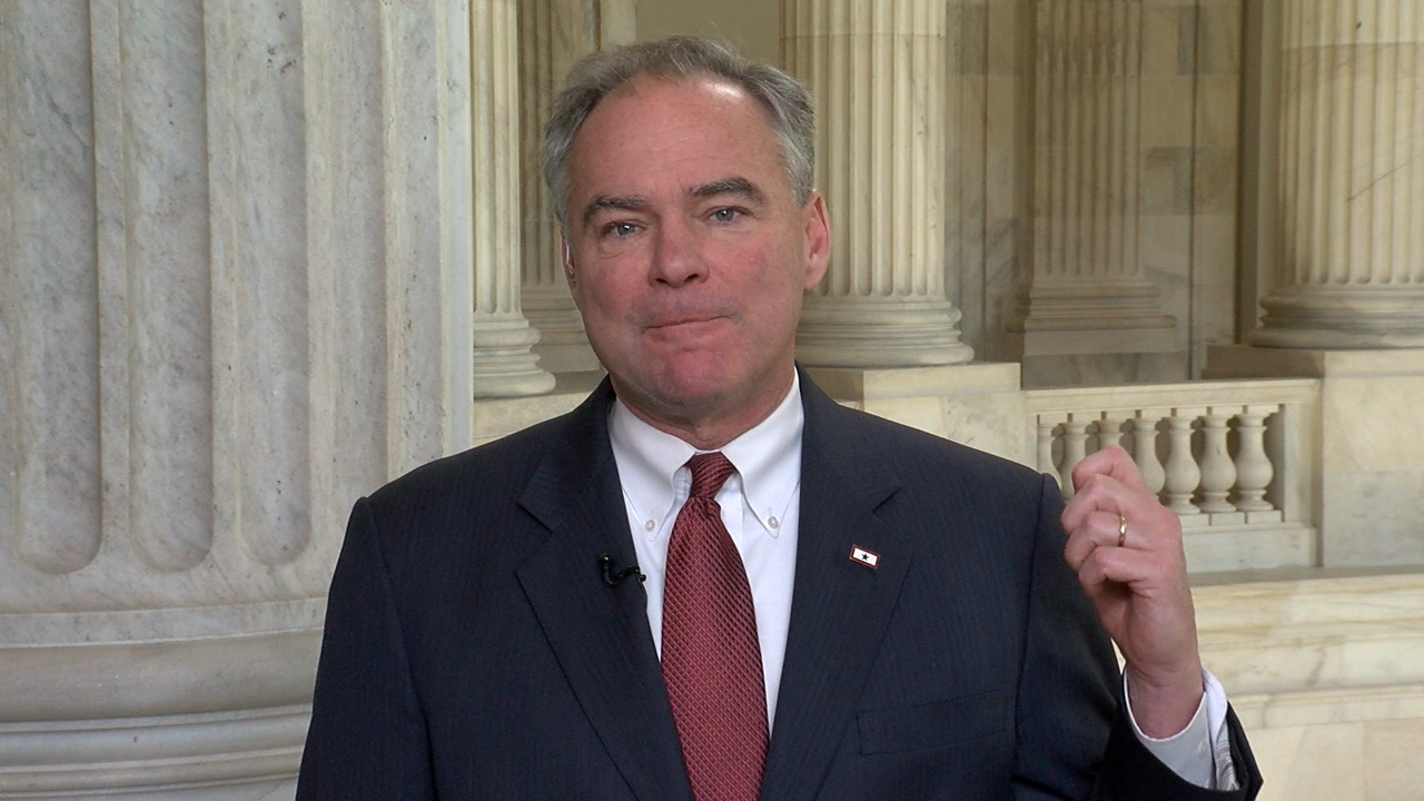 Sen. Tim Kaine (D-VA) spoke to Newschannel8 from Capitol Hill on Dec. 7, 2016. (SBG)