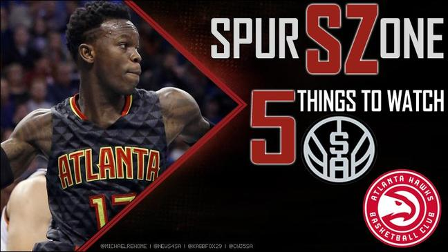 5 things to watch: Spurs vs. Hawks